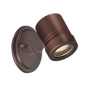 Acclaim Lighting Cylinders 1 Head Outdoor Spotlight; Architectural Bronze