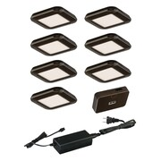 Vaxcel 9 Piece Under Cabinet Puck Light Set; Bronze