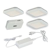 Vaxcel 5 Piece LED Under Cabinet Puck Light Set; White