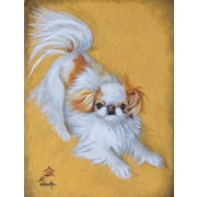 Caroline's Treasures Japanese Chin Red And White Play Vertical Flag