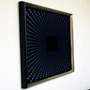 DesignArt Handmade 3D Explosion Mirror Artwork; Blue