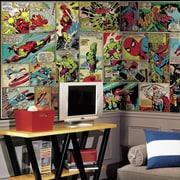 Room Mates Marvel Comic Panel Chair Rail Prepasted Wall Mural