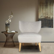 AdecoTrading Leisure Slipper Chair; Gray