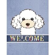 Caroline's Treasures Welcome White Poodle Vertical Flag