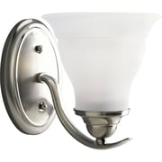 Progress Lighting Trinity One Light Bath Fixture Vanity; Brushed Nickel