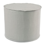 Brite Ideas Living Houndstooth Round Corded Foam Ottoman