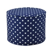 Brite Ideas Living Ikat Dot Sunshine Round Corded Foam Ottoman