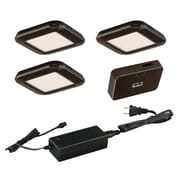 Vaxcel 5 Piece LED Under Cabinet Puck Light Set; Bronze