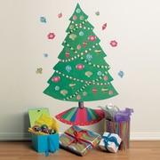 Wallies Christmas Tree Vinyl Holiday Wall Decal (Set of 2)
