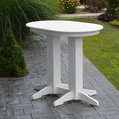 A&L Furniture Poly Bar Table; White