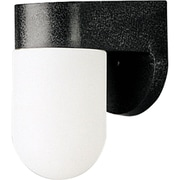 Progress Lighting 1 Light Outdoor Sconce; Black