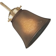 Concord Fans Side Glass Shade in Dark Amber Etched