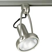 Progress Lighting Alpha Trak Line Voltage Adjustable Die Cast Gimbal Track  Head in Brushed Nickel