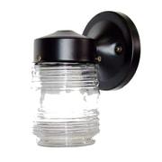 Acclaim Lighting Builder's Choice 1 Light Wall Lantern; Black