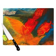 KESS InHouse What's Beneath My Feet by Josh Serafin Cutting Board; 11.5'' H x 8.25'' W x 0.5'' D