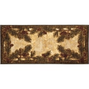 Mayberry Rug Cozy Cabin Pine Cone Gingham Mat; 1'8'' x 3'8''