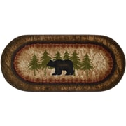 Mayberry Rug Cozy Cabin Birch Bear Mat; 1'8'' x 3'8''