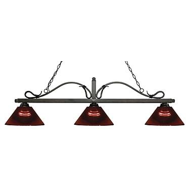 Z-Lite – Luminaire suspendu Melrose pour îlot/table de billard 114-3GB-ARBG, 3 amp., bourgogne
