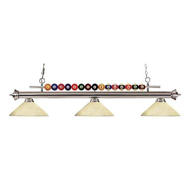Z-Lite – Luminaire suspendu Shark pour îlot/table de billard 170BN-AGM14, 3 amp., marbre doré