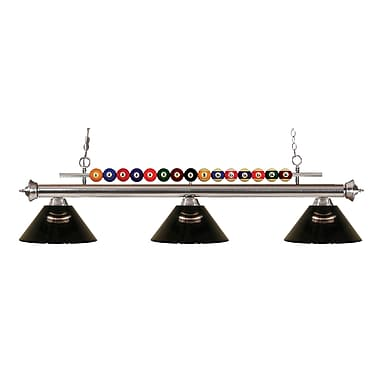 Z-Lite 170BN-ARS Shark Island/Billiard Light Fixture, 3 Bulb, Acrylic Smoke