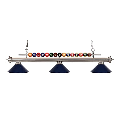 Z-Lite 170BN-MNB Shark Island/Billiard Light Fixture, 3 Bulb, Navy Blue