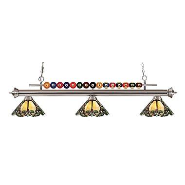 Z-Lite 170BN-Z14-37 Shark Island/Billiard Light Fixture, 3 Bulb, Multi-Coloured Tiffany