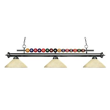 Z-Lite – Luminaire suspendu Shark pour îlot/table de billard 170GM-AGM14, 3 amp., marbre doré