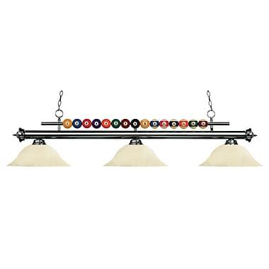 Z-Lite – Luminaire suspendu Shark pour îlot/table de billard 170GM-GM16, 3 amp., marbre doré