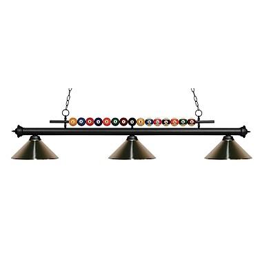 Z-Lite – Luminaire suspendu Shark pour îlot/table de billard 170MB-MBN, 3 amp., nickel brossé