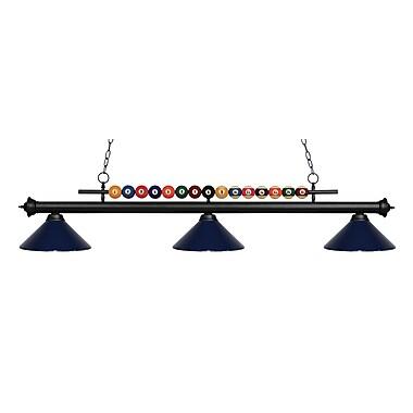 Z-Lite 170MB-MNB Shark Island/Billiard Light Fixture, 3 Bulb, Navy Blue
