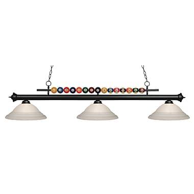 Z-Lite 170MB-SW16 Shark Island/Billiard Light Fixture, 3 Bulb, White Swirl