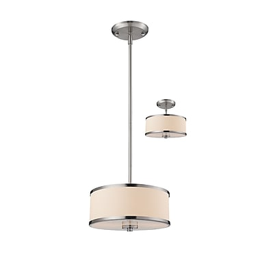 Z-Lite 183-12 Cameo Pendant Light Fixture, 2 Bulb, White