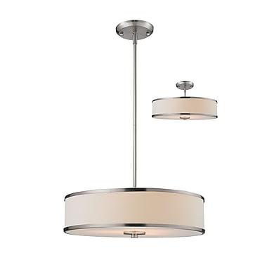 Z-Lite 183-20 Cameo Pendant Light Fixture, 3 Bulb, White