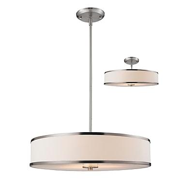 Z-Lite – Luminaire suspendu Cameo 183-24, 3 amp., blanc