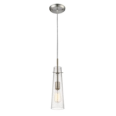 Z-Lite 188MP-BN Monte Mini Pendant Light Fixture, 1 Bulb, Clear Seedy