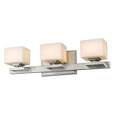 Z-Lite 1914-3V-BN Cuvier Vanity Light Fixture, 3 Bulb, Matte Opal