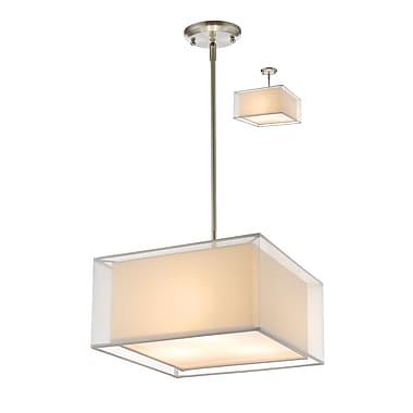 Z-Lite – Luminaire suspendu Sedona 193-15W-C, 3 amp., blanc/super blanc
