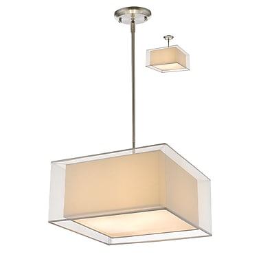 Z-Lite – Luminaire suspendu Sedona 193-18W-C, 3 amp., blanc/super blanc