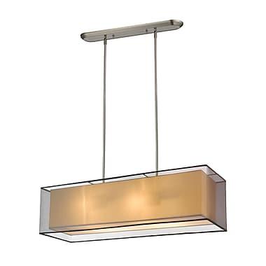 Z-Lite – Luminaire suspendu Sedona pour îlot/table de billard 193-42BK-C, 4 ampoules, noir/super blanc