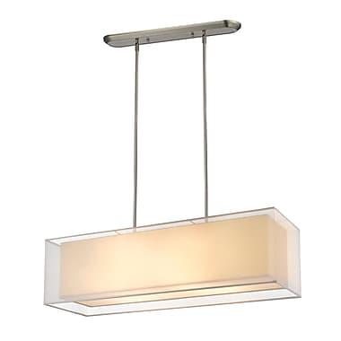 Z-Lite 193-42W-C Sedona Island/Billiard Light Fixture, 4 Bulb, White/SuperWhite