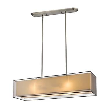 Z-Lite – Luminaire suspendu Sedona pour îlot/table de billard 193-45BK-C, 4 ampoules, noir/super blanc