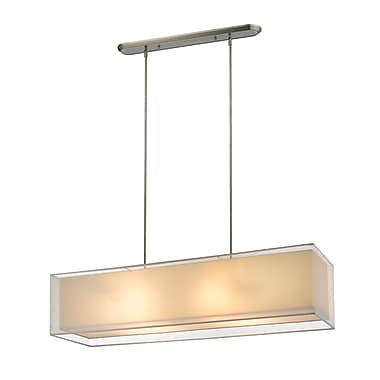 Z-Lite 193-45W-C Sedona Island/Billiard Light Fixture, 4 Bulb, White/SuperWhite