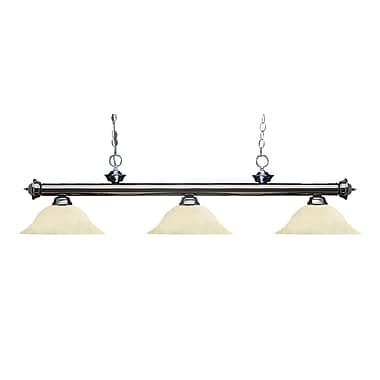 Z-Lite 200-3GM-GM16 Riviera Gun Metal Island/Billiard Light Fixture, 3 Bulb, Golden Mottle