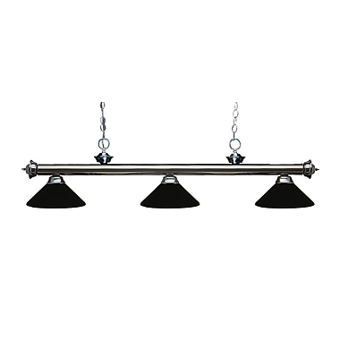 Z-Lite 200-3GM-MMB Riviera Gun Metal Island/Billiard Light Fixture, 3 Bulb, Matte Black