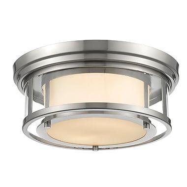 Z-Lite – Luminaire encastré Luna 2005F13-BN, 2 ampoules, opale mate