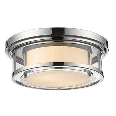 Z-Lite – Luminaire encastré Luna 2005F16-CH, 2 ampoules, opale mate