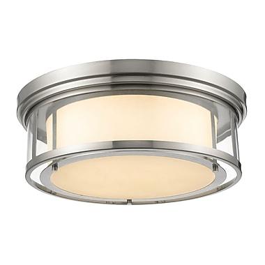 Z-Lite 2005F21-BN Luna Flush Mount Light Fixture, 4 Bulb, Matte Opal