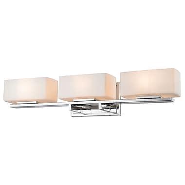 Z-Lite 3029-3V-CH Kaleb Vanity Light Fixture, 3 Bulb, Matte Opal