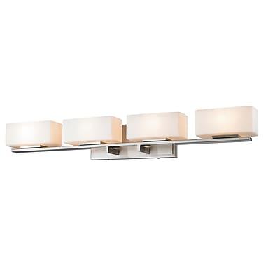 Z-Lite 3029-4V-BN Kaleb Vanity Light Fixture, 4 Bulb, Matte Opal