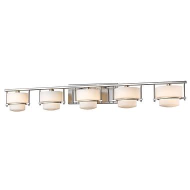Z-Lite – Applique murale pour salle de bain Porter 3030-5V-BN, 5 ampoules, opale mate